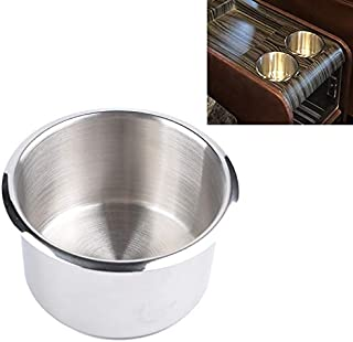 Car Stowing Tidying Car Multifunctional Drink Holder, Stainless Steel Drop-in Cup Holder Table Drink Holder,Suitable for C...