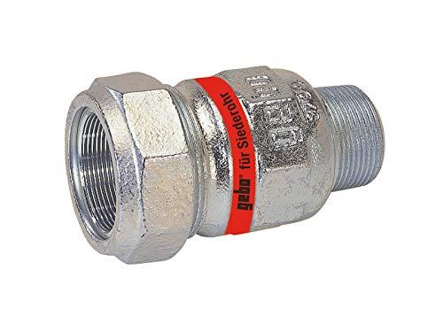 GEBO TG-Klemmverbinder, DN 15 - AG 1/2 Zoll x Ø 20 mm - für Siederohr
