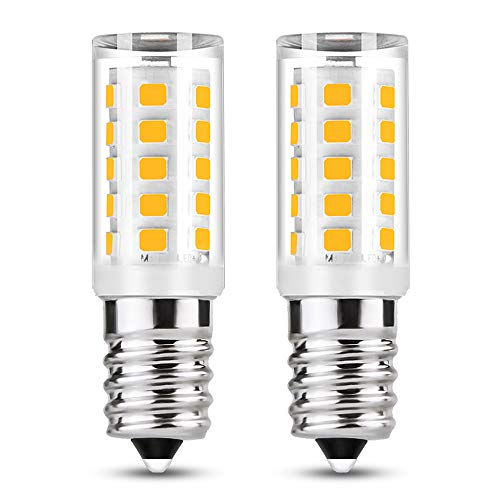 Fulighture E14 Bombilla LED campana extractora, Rosca Edison Pequeña, 3W Equivalente a Bombillas Halógena de 35W Blanco Cálido 3000K 350lm, 360 ° Ángulo de Haz, No Regulable, 2 Unidades