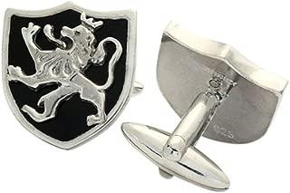 ZAUNICK Lion Cufflinks Sterling Silver & Enamel