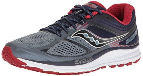 Saucony Men's Guide 10 Running Shoes, Grey Navy,...