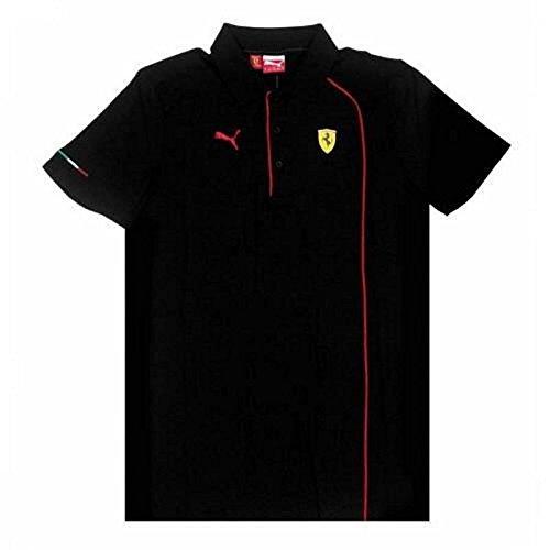 Ferrari Polo Homme Noir avec Ligne Rouge Taille M