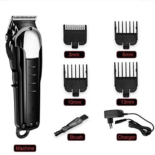 PHASFBJ Cortapelos, Impermeable Eléctrico Cortadoras de Pelo Kit de Corte de Pelo Inalámbrico para Hombres Recortadora de Barba con Cable de Carga USB para Barba