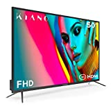 Televisor Kiano Slim TV 50 Pulgadas [127 cm Full HD] (Triple Tuner, DVB-T2, Ci+) Multimedia a través del Puerto USB, Televisor 50 Pulgadas TV 50 (PVR, Dolby Audio, HDMI, Direct LED, FHD) Energética A