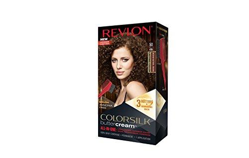 Revlon Color Silk all-in-one Butter Cream 50 Mittel-Naturbraun,Ammoniakfrei (3er Pack)
