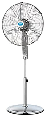 "Prem-I-Air 16"" (40cm) Chrome Pedestal Fan With Remote Control"