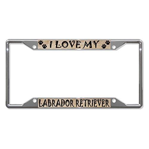 Fastasticdeals Labrador Retriever Dog License Plate Frame Tag Holder Cover
