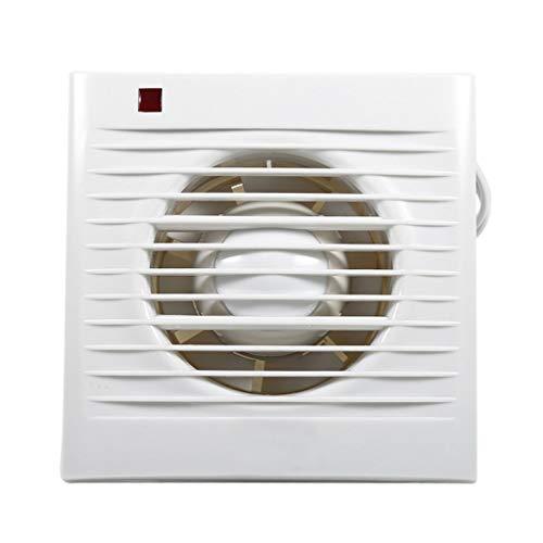 CFSNCM Extractor de escape de ventilación para ventana, pared, baño, inodoro, cocina, montado, voz baja, 220 V, 4'/ 6' (Size : 6)