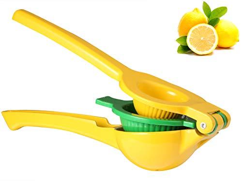 Exprimidor manual de limón resistente de gran tamaño 2 en 1 de aluminio premium extractor de jugos de prensa mano limón lima exprimidores naranja cítricos exprimidor de mano exprimidor de