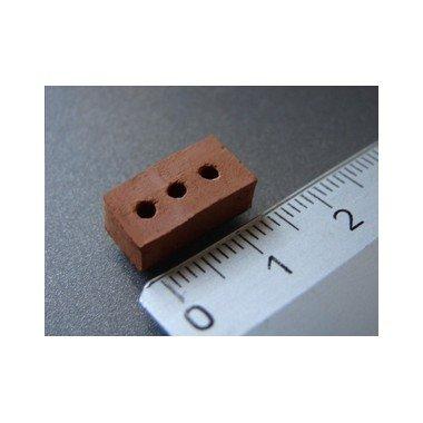 Domus Kits 02020 - 150 unidades ladrillos con pequeños agujeros, escala 1:20