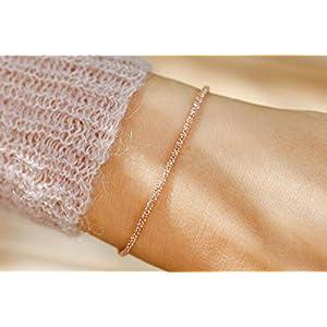 Geschenk feine Silberkette rosé Weihnachtsgeschenk