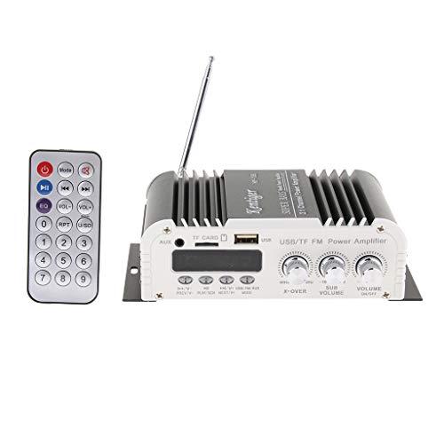 F Fityle DC 12V 2x20W Mini Clase D Amplificador de Audio Estéreo...