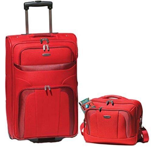 Travelite Orlando Trolley 53 cm + Beauty Case in 3 Farben (Rot)