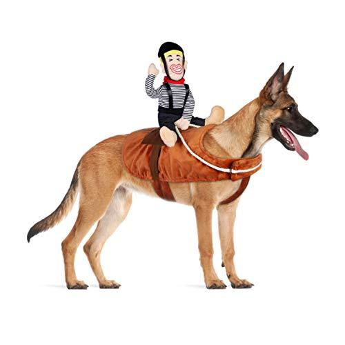 POPETPOP Hunde Kostüme Halloween Cowboy Reiter - Lustiges Katzenoutfit Cowboy für Haustierkleidung Verkleiden Outfits für Halloween Weihnachten