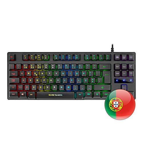Mars Gaming MKTKL, teclado H-mecánico RGB 8 efectos, antighosting, portugués, Negro