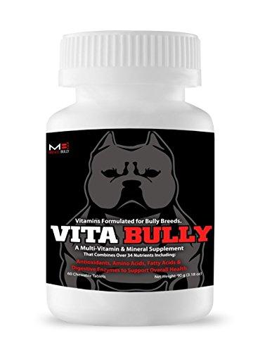 Vita Bully Vitamins for Bully Breeds: Pit Bulls, American Bullies, Exotic Bullies, Bulldogs, Pocket Bullies, Made in The USA. (60 Vitamins)