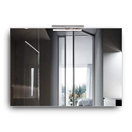 styleglass Specchio Bagno Rettangolare Reversibile Sole 100 x 70 cm, Specchio Parete con Luce Made in Italy, Spessore 4mm, Illuminazione a LED, Kit Fissaggio Murale Incluso, Grado di Protezione IP20