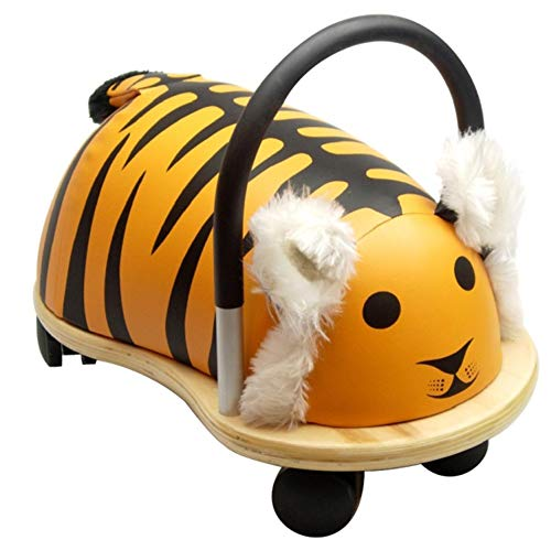 Wheelybug Toddler Ride On Animal, Safety Certified Developmental Toy (Small, Tiger)