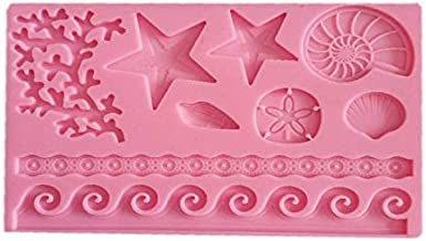 Seashell starfish conch coral Silicone Fondant Mold for Cake Decoration Chocolate Candy Mold Soap Mold Baking Tool Jello M...