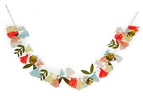 Meri Meri, Bouquet de fleurs, guirlande d'anniversaire, décorations de fête