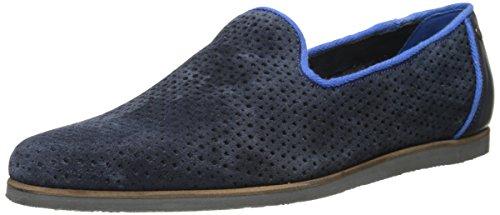 Ted Baker Men's Oshua Slip-On Loafer, Light Grey Suede/Perforated, 7 M US