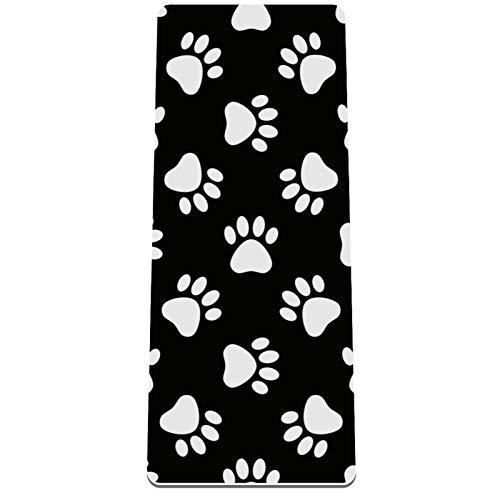 Eslifey Cats Paws Dog Paws Esterilla de yoga gruesa antideslizante para mujeres y niñas esteras de ejercicio suaves para pilates (182 x 81 cm, 1/3 pulgadas de grosor)