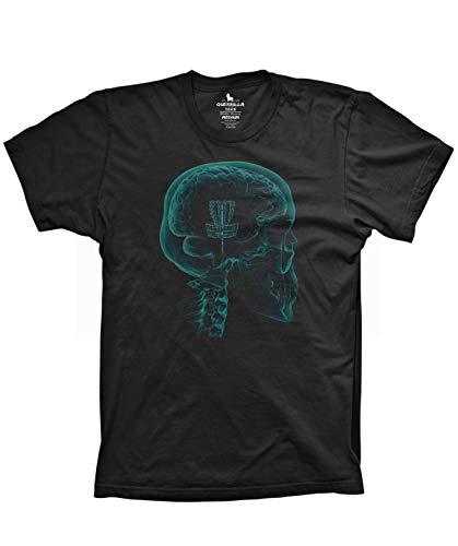 Disc Golf on The Mind Shirt Funny Basket case Graphic Frisbee Golf Tshirt, 2X-Large Black
