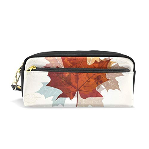 Yuanmeiju Mäppchen Large Capacity Holders Thanksgiving Maple Leaf Pen Stationery Pouch Bag with Zipper