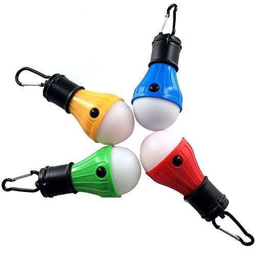 Coideal LED Campinglampe Zeltlampe Glühbirne Set Notlicht Laterne wasserdicht tragbare für Camping Hurrikan Notfall Rucksack Wandern Outdoor & Indoor, Powered Akku für Stromausfall, 4 Stücke