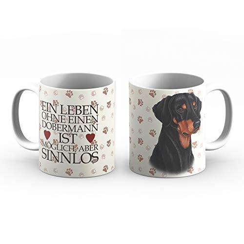 Dobermann Tasse mit Spruch, Tasse Hund und Frauchen, Animal Crossing-Becher – Für Dich/Lustige Texte/Tasse Weihnachten/Personalisierte Tasse/Kaffeetasse Groß