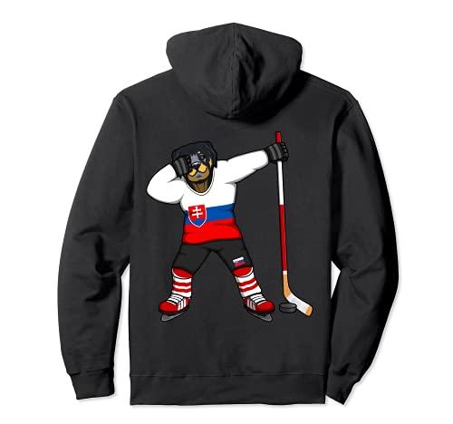 Dabbing Rottweiler Slowakei Eishockey Fan Slowakische Sport Pullover Hoodie