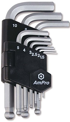 Ampro T22927 Clés Males Sphériques, Set de 9