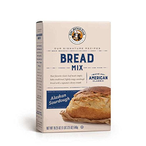 King Arthur Flour Alaskan Sourdough Bread Mix 19.25 OZ (546g), Bread Mix for Bread Machines or Oven Baked Bread.