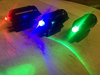 Set of Three LED rod tip lights in Green- Blue- red sea fishing tip lights by BZS