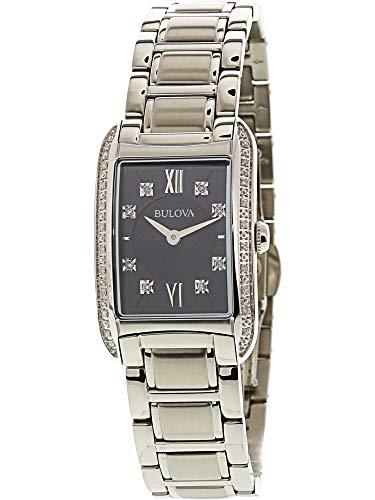 Bulova - Reloj de Acero Inoxidable para Mujer con Diamantes