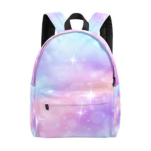 Kid's Backpacks Rainbow Sky Glittering Stars Rucksack Cute Student School Book Bags