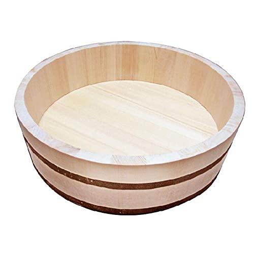 JANEFLY Kit para Hacer Sushi, Juego De Paletas De Arroz con Rodillo De Estera De Sushi De Bambú Tazón para Mezclar Arroz Prensa De Sushi Simple Adecuada para Cocinar Arroz Sashimi,30cm/ 12in