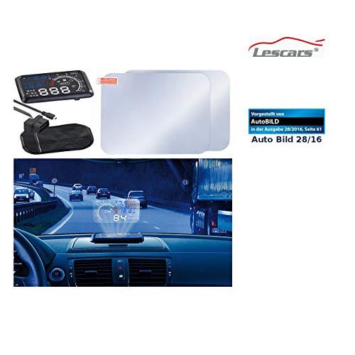 Lescars Head Up Displays: Head-up-Display mit Bluetooth HUD-55C.bt für OBD2-Anschluss (Head Up Displays mit Bluetooth)