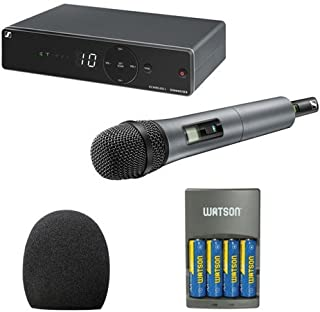 Sennheiser XSW 1-825-A UHF Vocal Set with e825 Dynamic Microphone (A: 548 to 572 MHz) With Microphone Accessory Kit