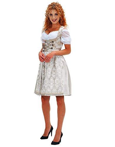 Alte Liebe Trachtenkleid 3tlg. Dirndl Kleid 34,36,38,40,42,44,46, Creme, 40