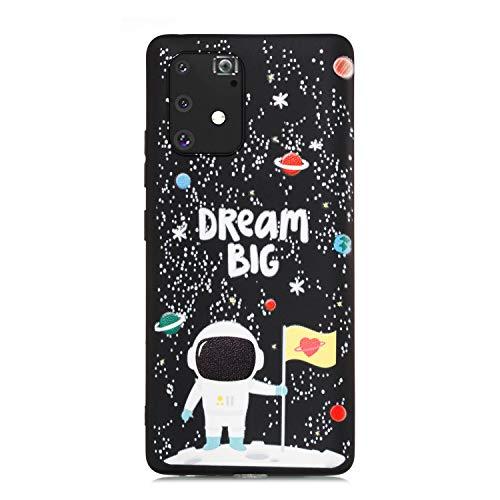 ChoosEU Compatible avec Coque Samsung Galaxy S10 Lite/Samsung Galaxy A91 Silicone Souple Noir Motif pour Filles Femmes Homme, Etui Soft Étui Ultra Fine Antichoc Housse Mince Case Protection - B