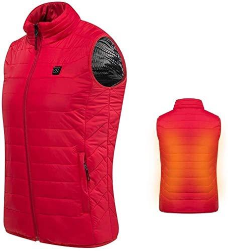 HFFFHA Calentada Chaleco Camisa de Calentamiento eléctrico USB Termal del Invierno Caliente...
