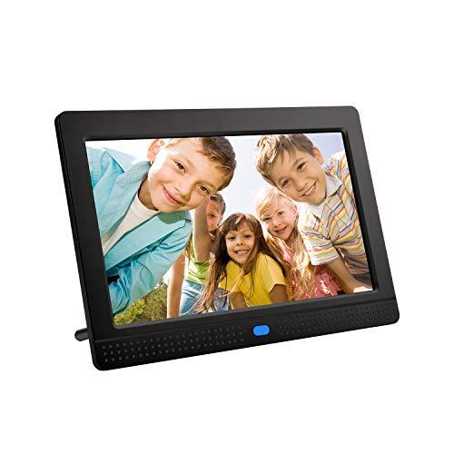 Digitale Picture Frames,GAKOV GAP702 7 Zoll mit Vollbildmodus Diashow Digitaler Bilderrahmen mit Hintergrundmusik 1080P/Stereo/MP3/Kalender/Time/Fernbedienung/Bestes als Geschenk (M)