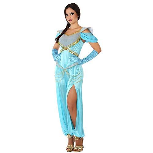 Atosa-61431 Atosa-61431-Disfraz Princesa Arabe-Adulto Mujer, Color celeste, XS a S (61431 , color/modelo surtido