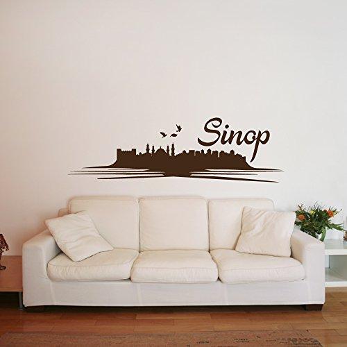 A5570 | Meccastyle | Wandtattoo - Sinop Skyline- L - 115cm x 35cm- 11. Haselnuss