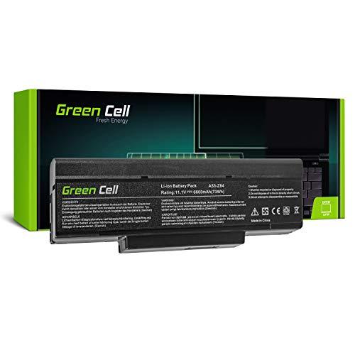 Green Cell Extended Serie A32 Z94 A32 Z96 Laptop Akku fur ASUS Z53 Z53J Z53S Z53T Z53U Z62 Z84 Z9 Z9R Z94 Z96 Z96S 9 Zellen 6600mAh 111V Schwarz