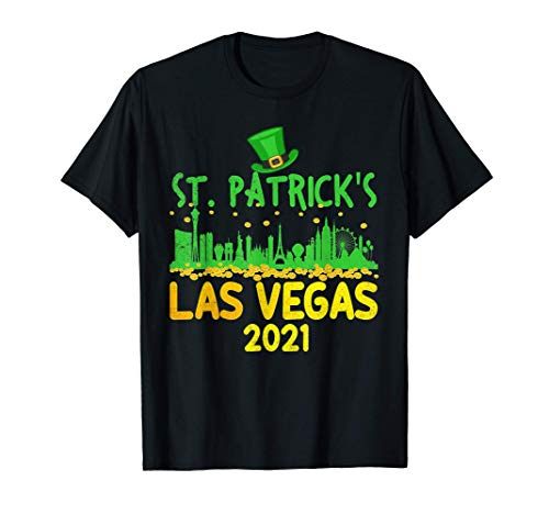 Party In Las Vegas 2021 Funny St. Patrick's Day Costume T-Shirt