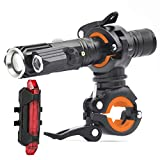 USB Rechargeable Bike Light Set 1000 Lumen IPX6 Waterproof Bicycle Headlight Runtime 8+ Hours with 4...