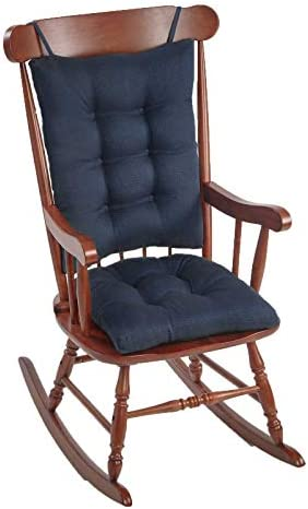 Best The Gripper Non-Slip Omega Jumbo Rocking Chair Cushions, Seat Measures: 17x17x3 inches. Back Measure