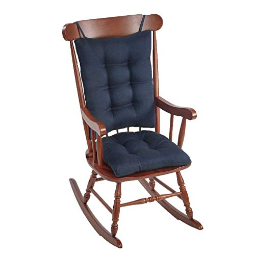 The Gripper NonSlip Omega Jumbo Rocking Chair Cushions Seat Measures: 17x17x3 inches Back Measures: 17x21x3 inches Indigo